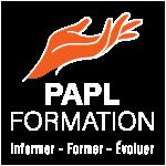 PAPL Formation - Logo - BLANC_Orange_150px