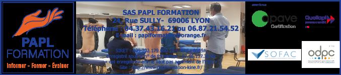 PAPL Formation : Organisme de formation continue en kinésithérapie Lyon